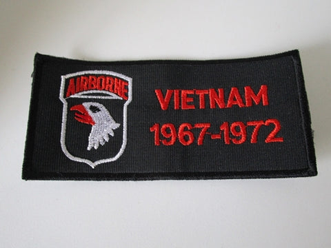 Embroidered Military Patch 1967 - 1972 Vietnam US Army Airborne