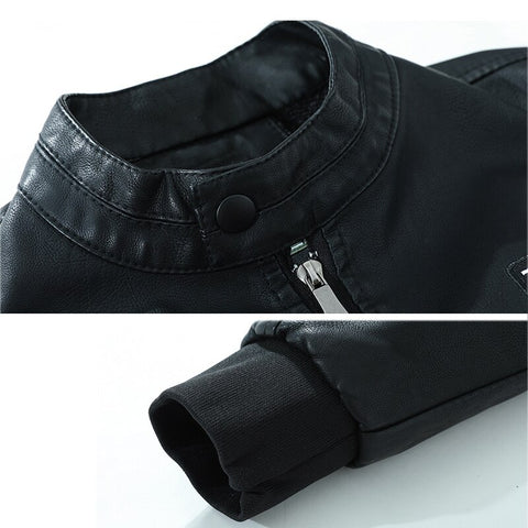 Image of Self-Defense Anti-Cutting Stab-Resistant Leather Men Jacket Safety Protective Clothing