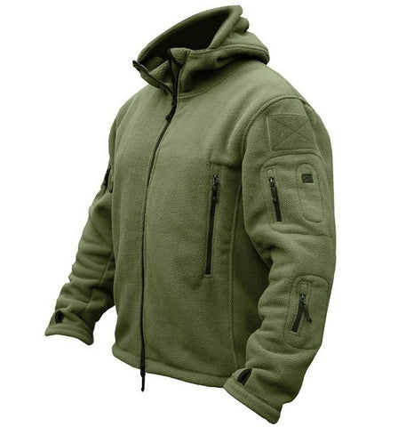 Image of US Military Fleece Tactical Jacket Men Thermal Outdoors