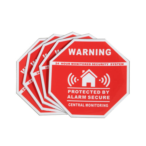 Image of 5Pcs Home House Alarm Security Stickers