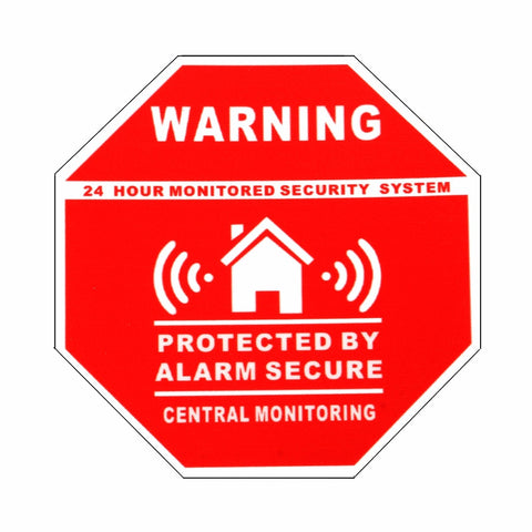 5Pcs Home House Alarm Security Stickers