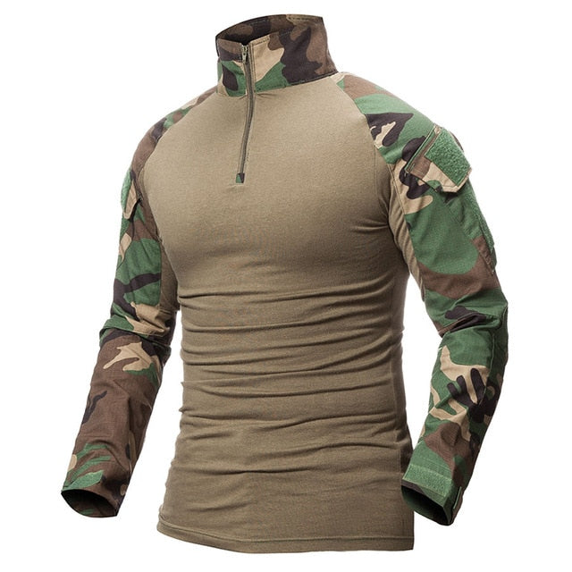 Camouflage Army T Shirt Military Force Multicam Camo Long Sleeve T Shirts
