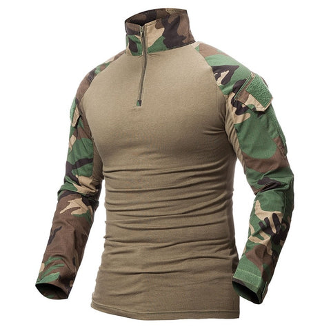 Image of Camouflage Army T Shirt Military Force Multicam Camo Long Sleeve T Shirts