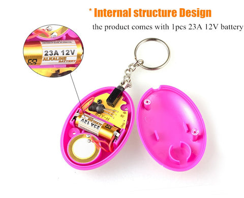 Image of Self Defense Alarm 120dB Egg Shape Girl Women Security