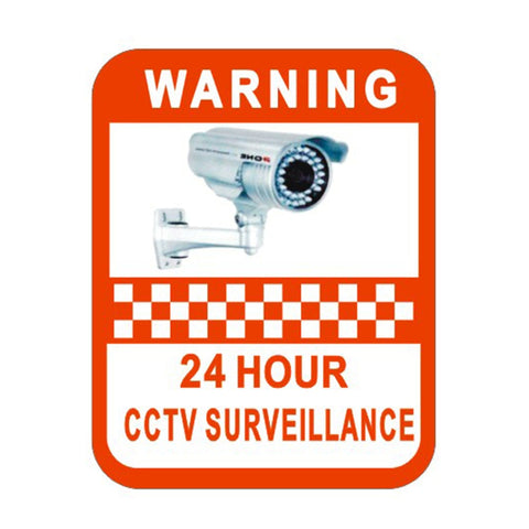 2Pcs Surveillance Warning Sticker