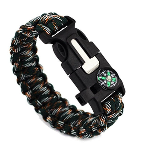 4 in 1 Braided Paracord Bracelet Multi-function Survival Rope