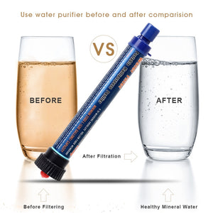 Outdoor Water Filter Camping Hiking Emergency Life Survival