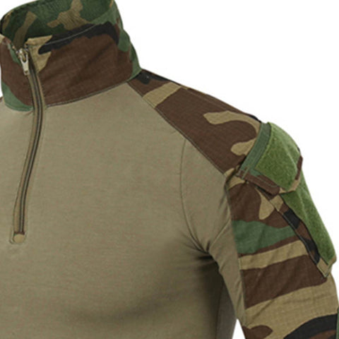 Image of Camouflage Army T-Shirt Soldiers Combat Tactical Long Sleeve T Shirts