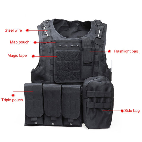 Tactical Vest 7 Colors Mens Military Hunting Airsoft Plate Carrier