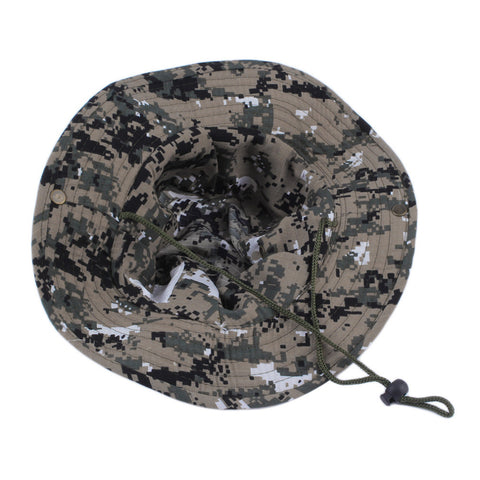 Military Army Jungle Camo Boonie Bucket Cap Hat
