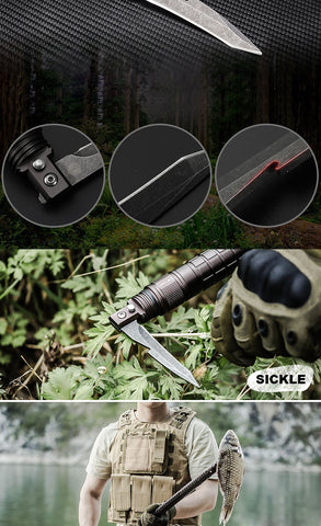 Outdoor Camp Hiking Survival Tool Self defense Sticks pole