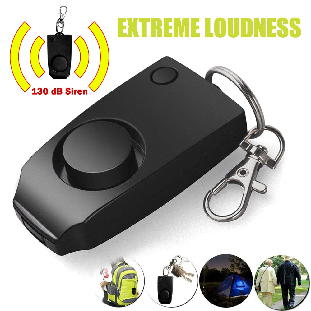 Personal Alarm Keychain Anti-rape Device Mini for Women Girls Kids
