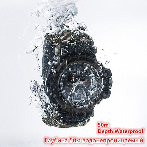 Image of Survival Watch Multi-functional Waterproof 50M Paracord Bracelet