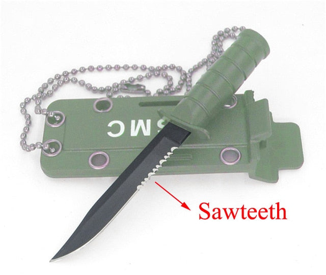 Portable Mini Necklace Blade Knife Camp Outdoor