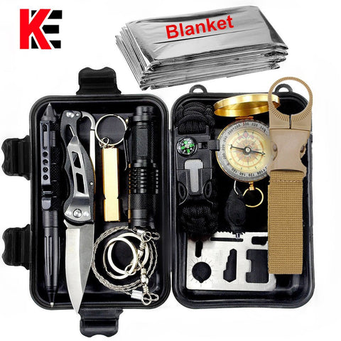 Outdoor survival kit Set Camping Travel Multifunction First aid