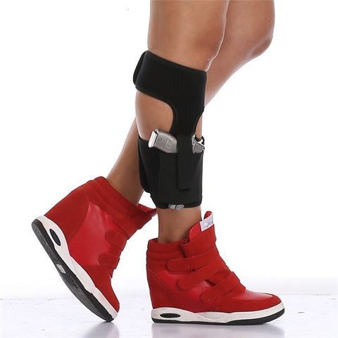 Ankle Holster for Concealed Carry Elastic Secure Strap