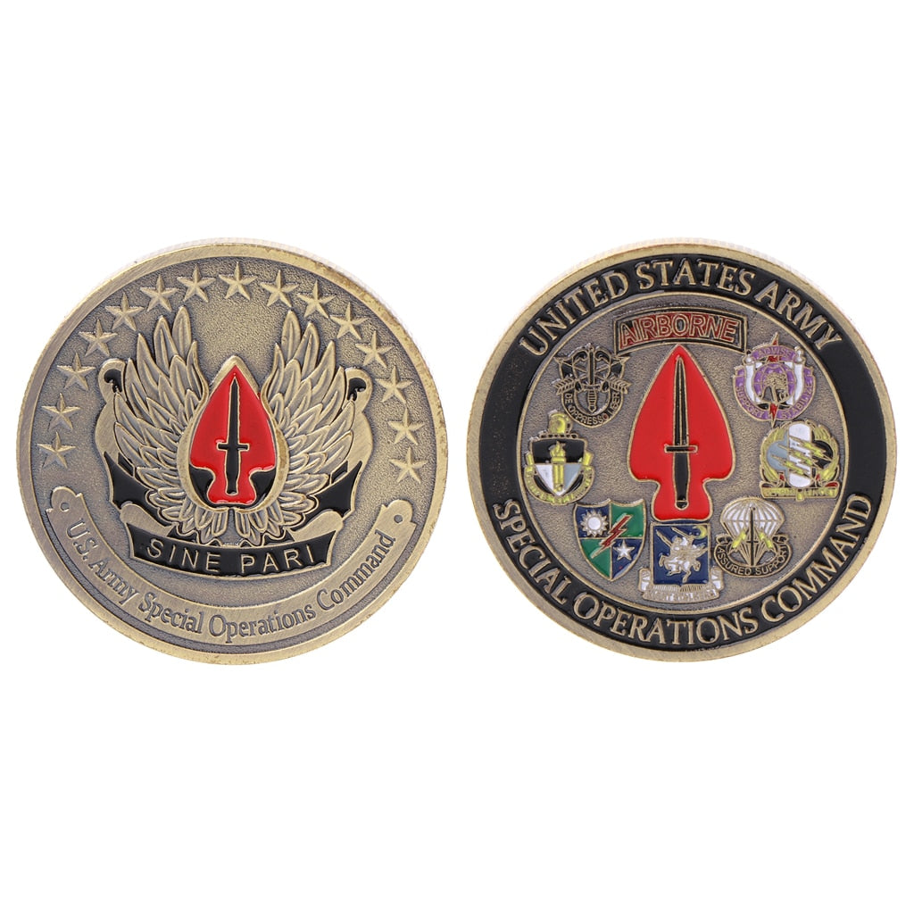 United States Army Airborne Commemorative Coin Souvenir