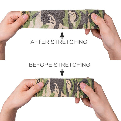 Image of 5 Piece/lot Self Adhesive Camouflage Elastic Tape Camo