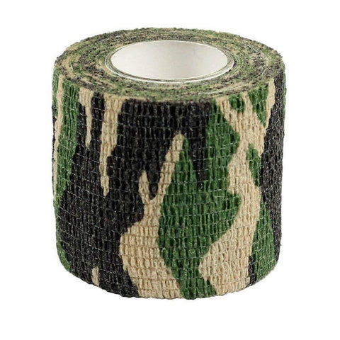 5 Piece/lot Self Adhesive Camouflage Elastic Tape Camo