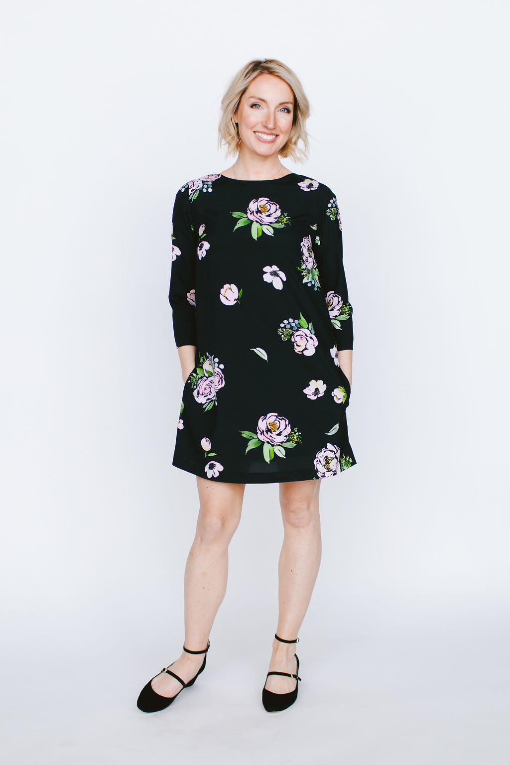 Suzie Dress in Black Floral