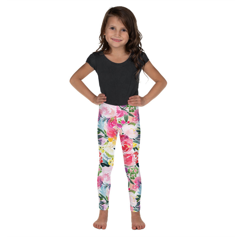 Pink Bouquet Kids Leggings