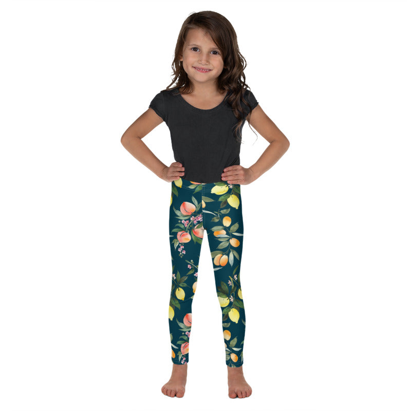 Dark Citrus Kids Leggings