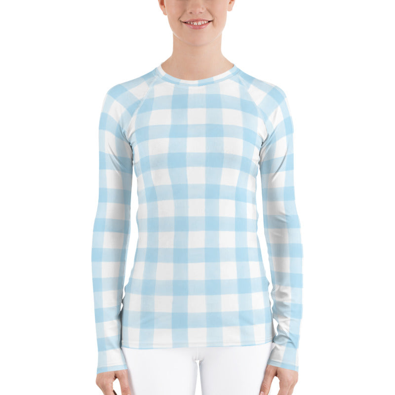 Blue Gingham Sun Shirt