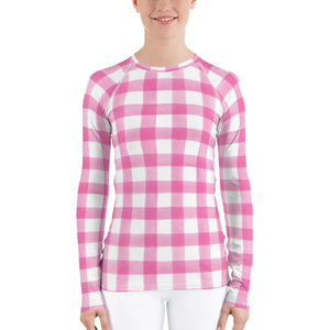 Hot Pink Gingham Sun Shirt