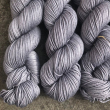 Load image into Gallery viewer, A Nice Grey DK, hand-dyed merino nylon yarn