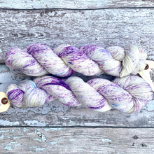 Load image into Gallery viewer, Crocuses in the Snow, merino nylon sock yarn