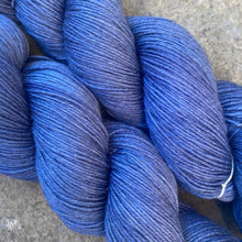 Load image into Gallery viewer, Blue Grey Evening, grey merino nylon sock yarn