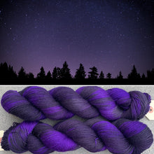 Load image into Gallery viewer, Distant Galaxies, merino nylon sock yarn