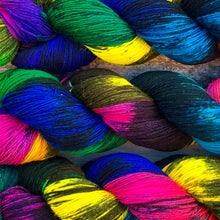 Load image into Gallery viewer, Sacrilegious & Exclusionary, rainbow merino nylon sock yarn
