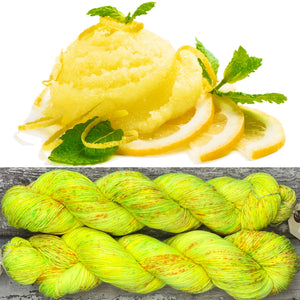 Lemon Sorbet, merino nylon sock yarn