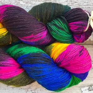 Sacrilegious & Exclusionary DK, rainbow merino nylon sock yarn