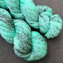 Load image into Gallery viewer, Mint Choc Chip Ice Cream, merino nylon sock yarn