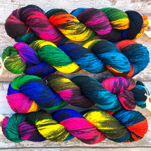 Load image into Gallery viewer, Sacrilegious & Exclusionary DK, rainbow merino nylon sock yarn