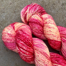 Load image into Gallery viewer, Raspberry Ripple Ice Cream, merino nylon sock yarn