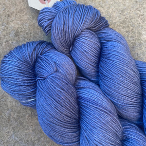 Blue Grey Evening, grey merino nylon sock yarn