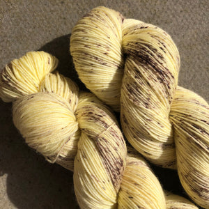 Vanilla Ice Cream, merino nylon sock yarn