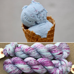 Bubblegum Ice Cream, merino nylon sock yarn