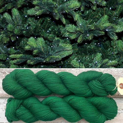 Christmas Green, merino nylon sock yarn