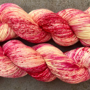 Raspberry Ripple Ice Cream, merino nylon sock yarn