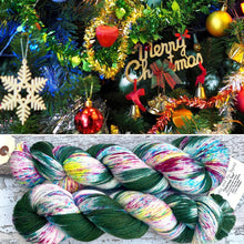 Load image into Gallery viewer, Christmas Tree Sparkle DK, merino nylon yarn