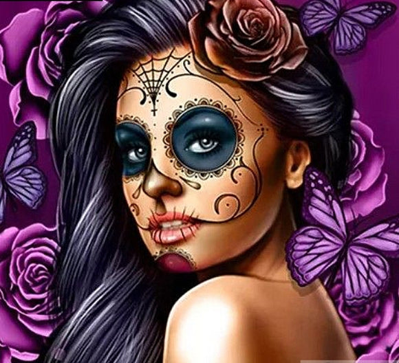 Full Sugar Skull Diamond Painting