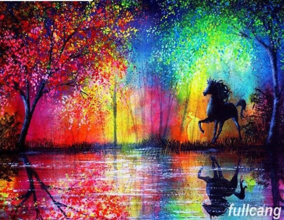 Full Colourful Horse Diamond Painting