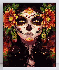 Sugar Skull paint by numbers
