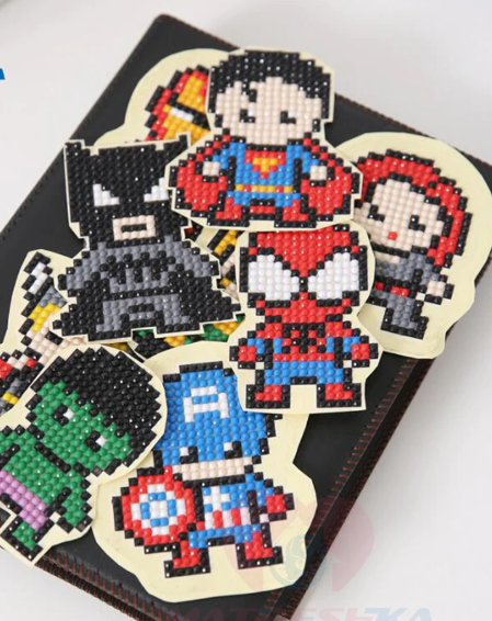 Superhero diamond painting stickers