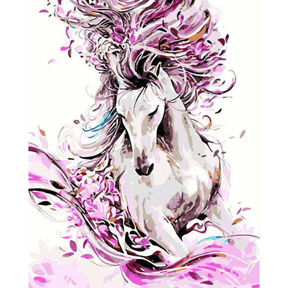 Flower Horse paint by number