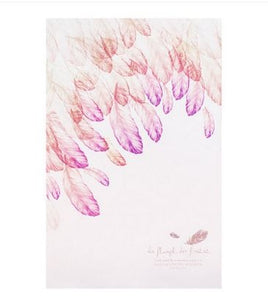 feather faux leather cover notepad